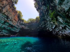 Melissani Cave Lake Kefalonia, Greece