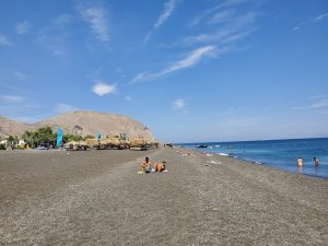 Perissa Black Beach Santorini Greece