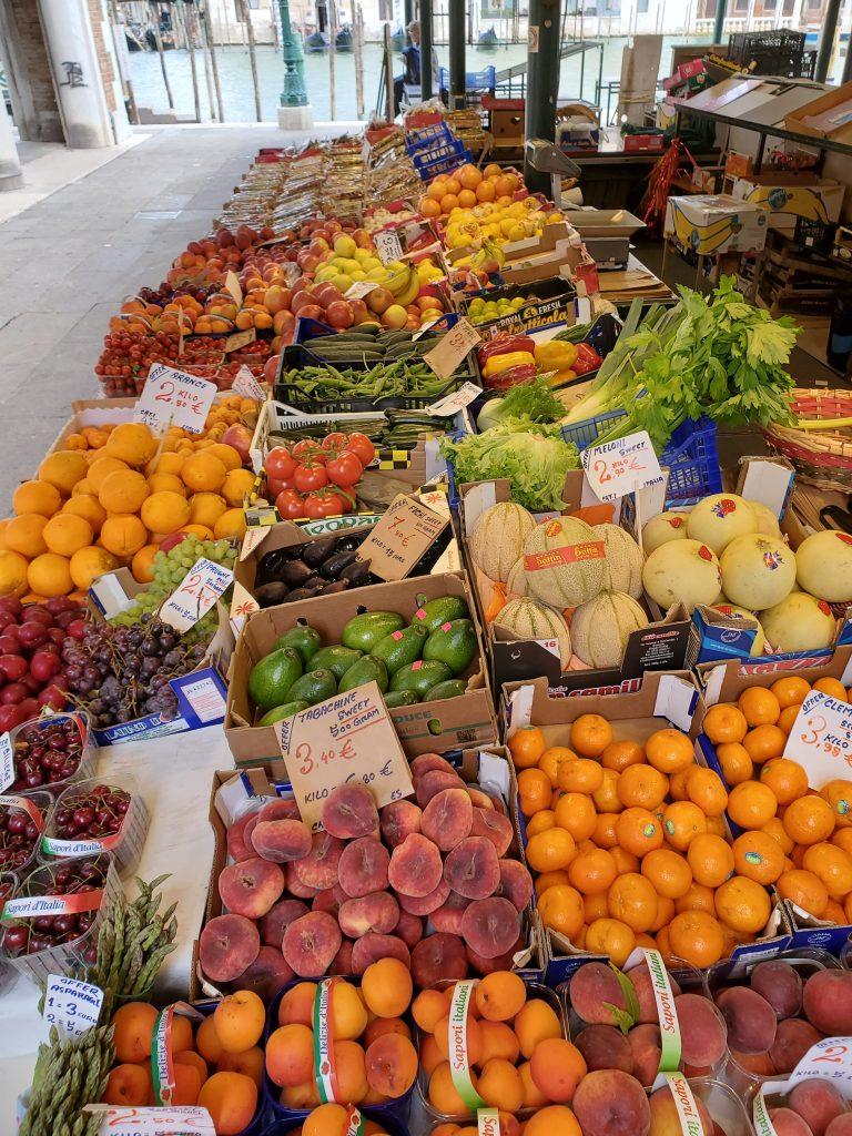 Produce Market Venice Italy