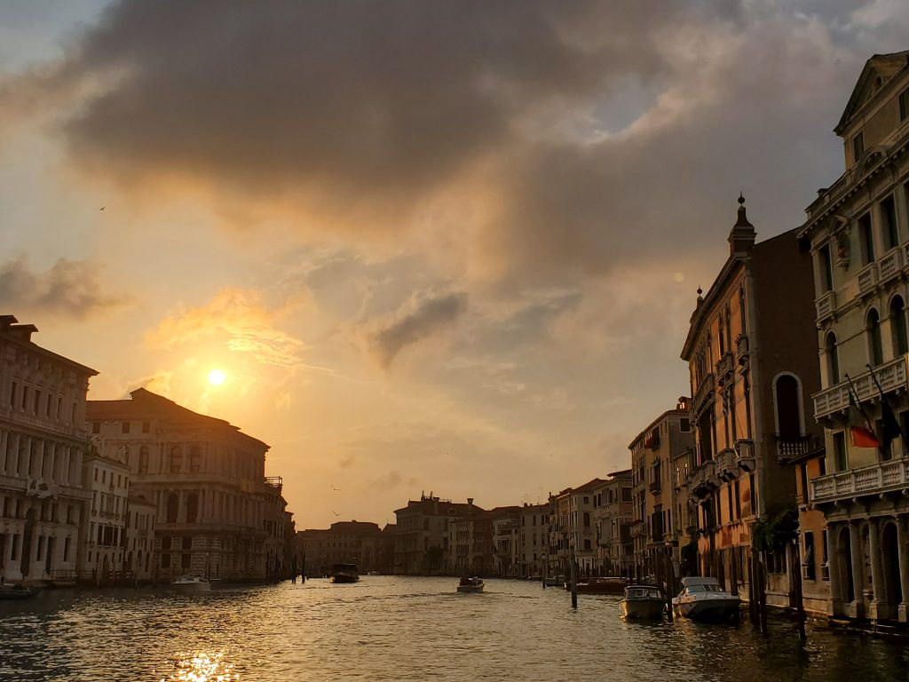 Venice Italy Grand Canal Sunset