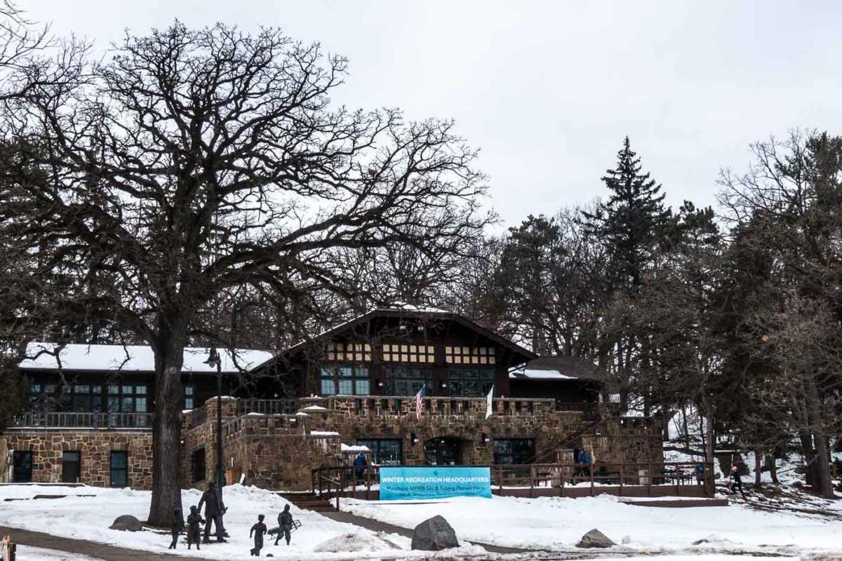 Minneapolis Winter Theo Wirth Lodge - MNTrips
