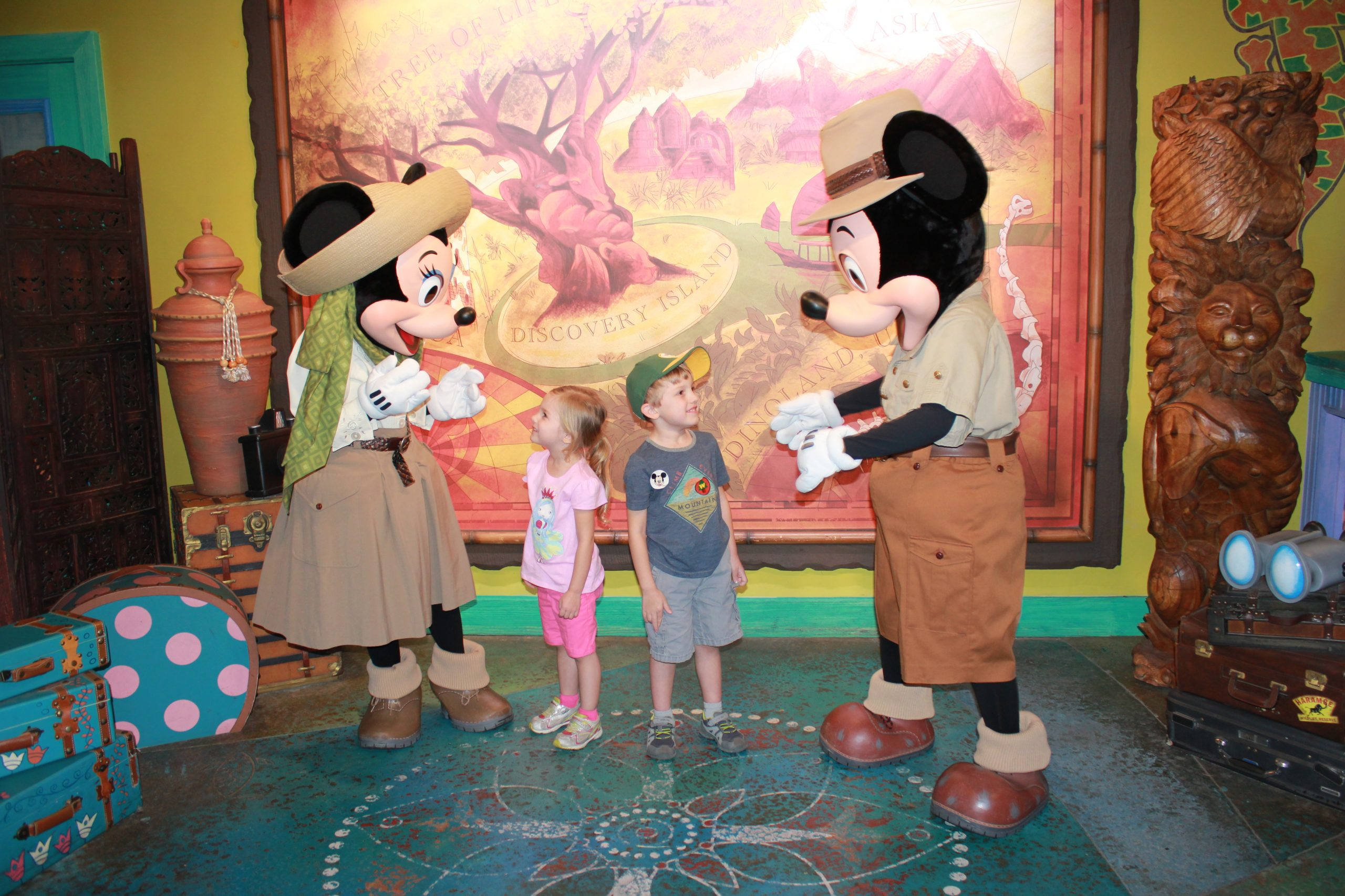 Cernys Journeys - Cora & Jamen with Mickey and Minnie at Disney World